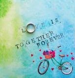 Carte avec une inscription - amour Est Photographie stock libre de droits