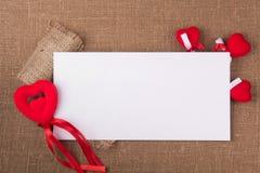 Carte blanche pour la félicitation Images stock