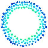Carte bleue de jour de valentines de coeurs illustration libre de droits