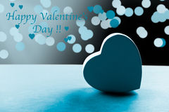 Carte bleue de Saint-Valentin Photographie stock