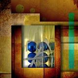 Carte bleue de salutation de boules de Noël Images stock