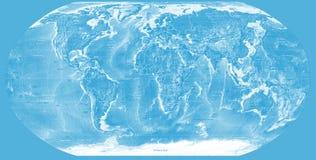 Carte bleue du monde Image libre de droits