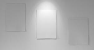 3 carte a bordo con giù luce Immagini Stock Libere da Diritti