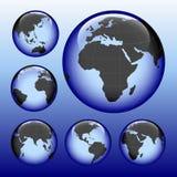 Carte brillante de la terre Images libres de droits