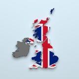Carte britannique illustration libre de droits