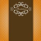 Carte brune d'invitation de vecteur illustration stock
