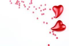 Carte cadeaux avec la décoration de coeur Image stock