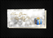 Carte cadeaux bleue Photo libre de droits