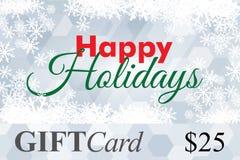 Carte cadeaux, bon de cadeau bonnes fêtes Photo libre de droits