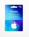 carte cadeaux d'iTunes sur un fond blanc Photographie stock libre de droits