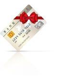 Carte cadeaux 1 de crédit Photographie stock libre de droits