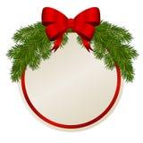 Carte cadeaux de Noël Image stock