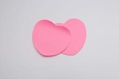 Carte cadeaux de papier de jour de valentines sur le blanc Photos libres de droits