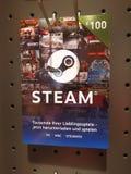 Carte cadeaux de vapeur à vendre photo stock