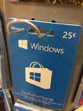 Carte cadeaux de Windows images stock
