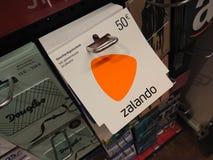 Carte cadeaux de Zalando Images stock