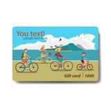 Carte cadeaux del descuento de la venta del verano Diseño de marcado en caliente para el viaje Foto de archivo