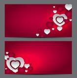 Carte cadeaux del símbolo del corazón del día de la tarjeta del día de San Valentín s Amor y sensaciones Backgr stock de ilustración