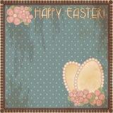 Carte cadeaux feliz del vintage de Pascua, vector Imagenes de archivo