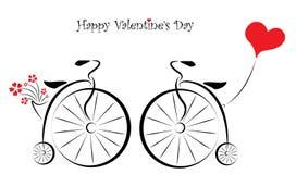 Carte cadeaux heureuse de jour de valentines Images stock