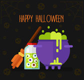 Carte cadeaux o bandera de Halloween Fotografía de archivo libre de regalías