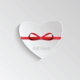 Carte cadeaux para el día de tarjeta del día de San Valentín Foto de archivo libre de regalías