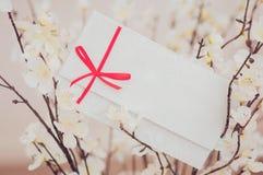 Carte cadeaux - plan rapproché d'une carte de signe Photographie stock