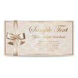 Carte cadeaux, Sertificate, cupón, invitación Imágenes de archivo libres de regalías