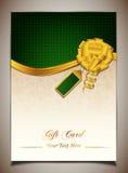 Carte cadeaux verte Image stock