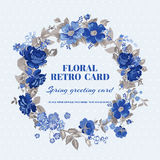 Carte chic minable florale Photographie stock