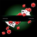 Carte Chips Casino Poker Fotografia Stock