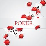 Carte Chips Dice Poker Fotografia Stock Libera da Diritti