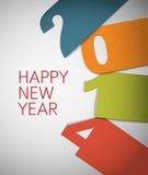 Carte colorée de vecteur de la bonne année 2014 Photo stock