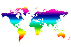 Carte colorée du monde Photos stock