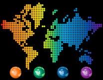 Carte colorée du monde Photos stock