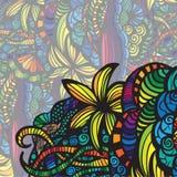 Carte colorée moderne d'invitation. Images libres de droits
