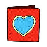carte comique de coeur d'amour de bande dessinée Images libres de droits