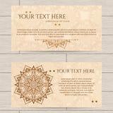 Carte con il modello di hennè Fotografia Stock