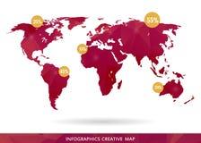 Carte créative abstraite de vecteur de concept du monde pour le Web et les applications mobiles d'isolement sur le fond Vecteur Image libre de droits