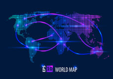 Carte créative abstraite de vecteur de concept du monde pour le Web et les applications mobiles d'isolement sur le fond Vecteur Photographie stock