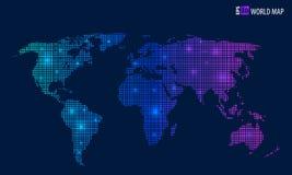 Carte créative abstraite de vecteur de concept du monde pour le Web et les applications mobiles d'isolement sur le fond Vecteur Photographie stock libre de droits