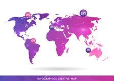 Carte créative abstraite de vecteur de concept du monde pour le Web et les applications mobiles d'isolement sur le fond Vecteur Image stock