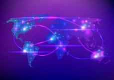 Carte créative abstraite de vecteur de concept du monde pour le Web et les applications mobiles sur le fond Vecteur Photo libre de droits