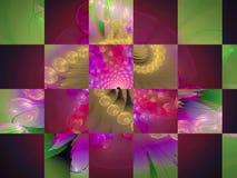 Carte créative de fractale numérique abstraite, style de couverture fantastique, mosaïque illustration stock