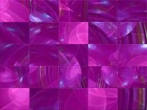 Carte créative de fractale numérique abstraite, style graphique de couverture fantastique, mosaïque illustration libre de droits