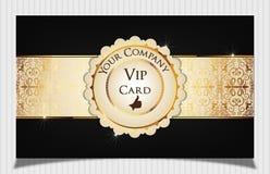 Carte créative noire de VIP Photographie stock