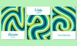 Carte creative con fondo astratto - vettore illustrazione vettoriale