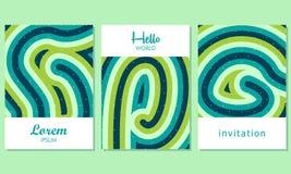 Carte creative con fondo astratto - vettore royalty illustrazione gratis