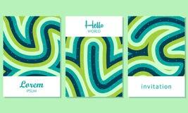 Carte creative con fondo astratto - vettore illustrazione di stock