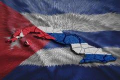 Carte cubaine illustration libre de droits